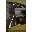 Corvette Wiper Cowl Cover - Perforated Stainless Steel : 2008-2013 C6,Z06,ZR1,Grand Sport