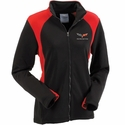 Corvette Women's Jacket Bonded with C6 Logo - Black/Red (05-12 C6)
