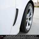 Corvette Z06 Front Fender - Laser Mesh Stainless Steel Black Stealth : 2006-2013 Z06