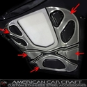 Corvette ZR1 Hood Insert Kit 4 Pc. - Perforated Stainless Steel : 2009-2013 ZR1