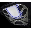 Corvette ZR1 Hood Insert Kit 5 Pc. Illuminated - Perforated Stainless Steel : 2009-2013 ZR1