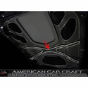 Corvette ZR1 Hood X-Frame Center Brace Cover - Polished Stainless Steel : 2009-2013 ZR1