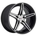 Cray Corvette Wheels - Brickyard Multipiece Black/Machine Face
