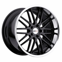 Cray Corvette Wheels - Hawk Gloss Black w/ Chrome Stainless Cut Lip