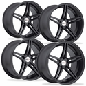 Cray Corvette Wheels (Set) - Brickyard Multipiece Matte Black