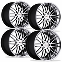 Cray Corvette Wheels (Set) - Hawk Chrome