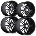 Cray Corvette Wheels (Set) - Hawk Matte Black