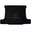 Ebony Corvette Jake Ultimat Cargo Mat - Red w/ Script - Coupe : C6,Z06,ZR1,Grand Sport