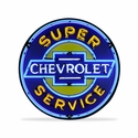 GM Super Chevy Service Neon Sign in a Metal Can : 36in