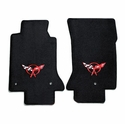 Lloyds Corvette Floor Mats Velourtex - Black w/ Red C5 Emblem (97-04 C5 / C5 Z06)