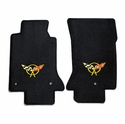 Lloyds Corvette Floor Mats Velourtex - Black w/ Yellow C5 Emblem (97-04 C5 / C5 Z06)
