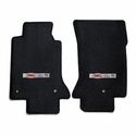 Lloyds Corvette Floor Mats Velourtex - Black w/ Z06 405HP Emblem (97-04 C5 / C5 Z06)