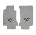 Lloyds Corvette Floor Mats Velourtex - Grey w/ Black C5 Emblem (97-04 C5 / C5 Z06)