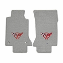 Lloyds Corvette Floor Mats Velourtex - Grey w/ Red C5 Emblem (97-04 C5 / C5 Z06)