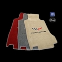 Lloyds Ultimat Floor Mats - C6 Emblem and Corvette Script - Steel Grey : 2005-2007