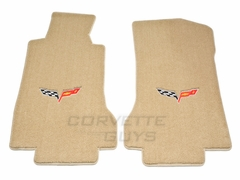 Lloyds Ultimat Floor Mats - Cashmere: 05-07 C6 (Post Style Anchor)