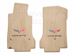 Lloyds Ultimat Floor Mats - Cashmere w/ C6 Logo and Corvette Script (07.5 - 13 C6)