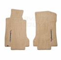 Lloyds Ultimat Floor Mats - Cashmere w/Sideways Lettering: 05-07 C6 (Post Style Anchor)