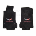 Lloyds Ultimat Floor Mats - Ebony w/ Red Lettering (07.5 - 13 C6)