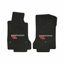 Lloyds Ultimat Floor Mats - Ebony w/ Red Stripes: 10-13 Grand Sport (Hook Style)