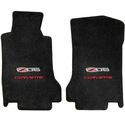 Lloyds Ultimat Floor Mats - Ebony with Z06 505HP Emblem with Red Corvette Script (07.5 - 13 C6 Z06) - Lloyd Mats 01540242118