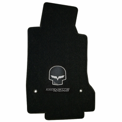 Lloyds Ultimat Floor Mats - Jake Corvette Racing w/ Script - Yellow or Silver - 2005-2007 (Post Anchor)
