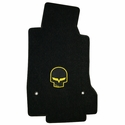 Lloyds Ultimat Floor Mats - Jake Skull / No Script - Yellow or Silver: 2007.5-2013 (Hook Anchor)