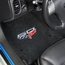 Lloyds Velourtex Floor Mats - 60th Anniversary above Flags : 2007.5-2013 C6, Z06, Grand Sport & ZR1- Ebony - Set of 2