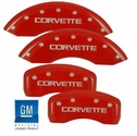 MGP Corvette Caliper Covers (Set of 4) - Red (88-96 C4)