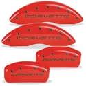 MGP Corvette Caliper Covers (Set of 4) - Red w/ Black Script and Bolts (C5 / C5 Z06)