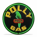Polly Gasoline Neon Sign in a Metal Can : 36in