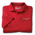 Red Men's DryTec Championship Polo - C6 Corvette