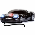 Road Mice Corvette Wired Computer Mouse (Black) - Four Door Media RM-08CHCZRWA