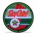 Texaco Sky Chief Neon Sign in a Metal Can : 36in