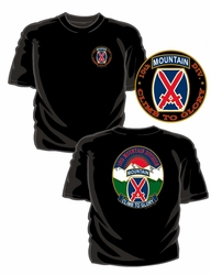 Military T Shirts Bulk Wholesale - 10th Mountain Division T-Shirt - Black