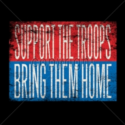 Wholesale Military Patriotic T Shirts Bulk - support-troops T Shirts Bulk - 12314-8x6