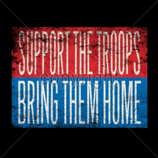 Wholesale Custom Printed Military T Shirts - 12314-8x6-support-troops