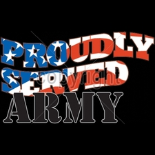 Wholesale Custom Printed Military T Shirts - 13219-12x8-proudly-served-army