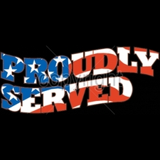 Wholesale Custom Printed Military T Shirts - 13221-12x5-proudly-served