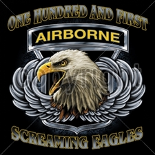 AIR BORNE Wholesale Custom Printed Military T Shirts - 13313-12x13-airborne-screaming-eagles