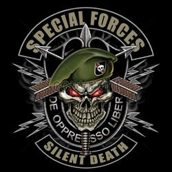 Wholesale Patriotic American Shirts -Wholesale Apparel - Military T-Shirts - 13314-13x13-special-forces-silent-death