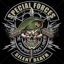 SPECIAL FORCES Wholesale Custom Printed Military T Shirts - 13314-13x13-special-forces-silent-death