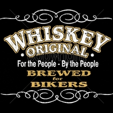 Wholesale Biker T-Shirts, Custom T-Shirts, Motorcycle T-Shirts -13371-14x13-whiskey-original-people-people-brewed-bikers