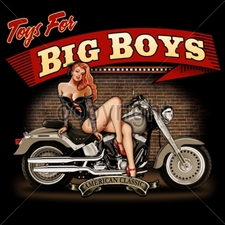 Wholesale Biker T-Shirts, Custom T-Shirts - 13443-14x12-toys-big-boys
