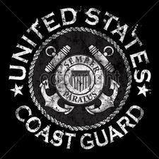 COAST GUARD Wholesale Custom Printed Military T Shirts - 13621-11x11-united-states-coast-guard-emblem