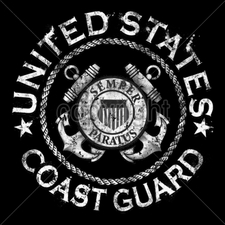 COAST GUARD Wholesale Custom Printed Military T Shirts - 13622-4x4-united-states-coast-guard-pocket