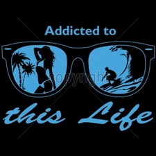 Apparel Clothing Wholesale Funny Cool Cheap T-Shirts - 13x9-addicted-life-sunglasses