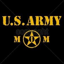 Wholesale Custom Printed Military T Shirts - 14029-9x5-us-army-mom