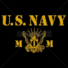Wholesale Custom Printed Military T Shirts - 14030-9x5-us-navy-mom