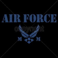 Wholesale Custom Printed Military T Shirts - 14032-9x5-air-force-mom